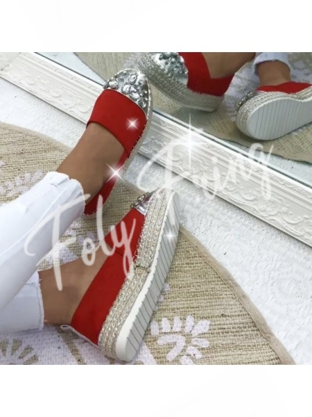 ***ESPADRILLES MILLE & UNE NUITS RED ***