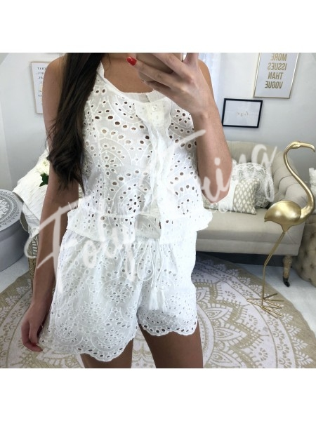 *** SHORT BRODERIE ANGLAISE CARLA COLLECTION ***