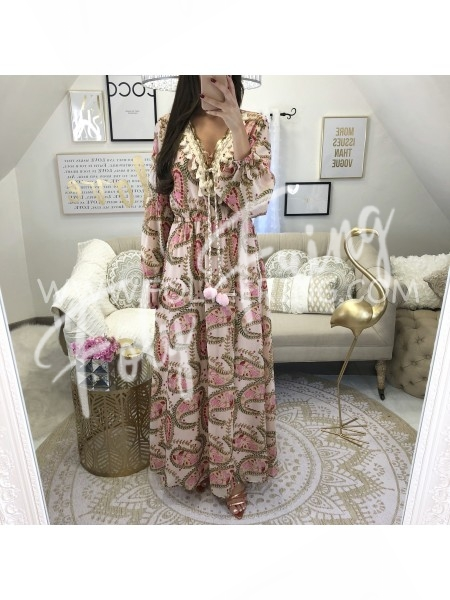 *** MAXI ROBE BOHEME ROSE TENDRE**