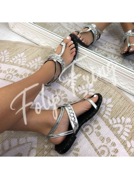 ****SANDALES CHAINES SILVER ****