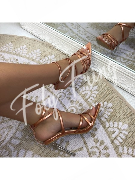***SANDALES INSPI HAUTE COUTURE ROSE GOLD***