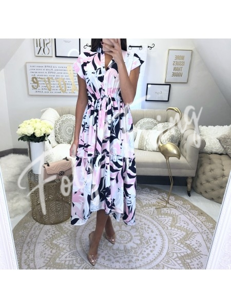 *** MAXI ROBE ASYMETRIQUE JUNGLE FLOWER ***