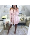 ***ROBE SATIN ROSE TENDRE ***