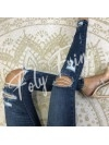 ***JEAN SKINNY DESTROY DK BLUE DENIM PREMIUM COLLECTION***