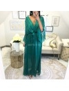 *** COLLECTION PRIVEE KAMILA MAXI ROBE BOHEME EMERAUDE***