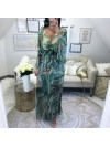*** COLLECTION PRIVEE KAMILA MAXI ROBE LEOPARD GREEN***