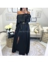 *** MAXI ROBE SATIN BLACK ***