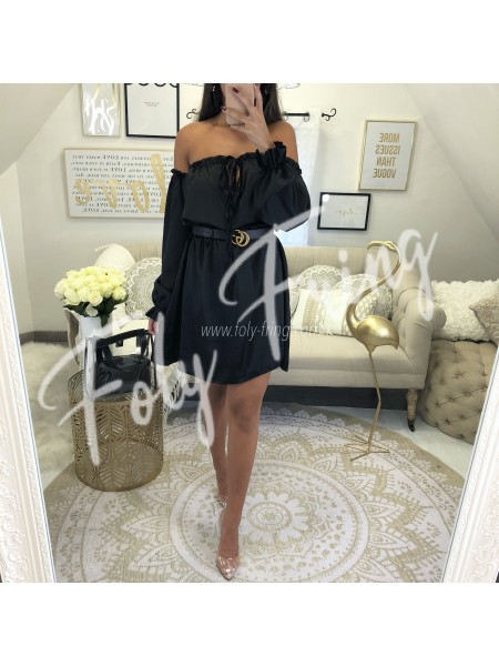 ***ROBE SATIN BLACK ***