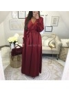 *** MAXI ROBE SATIN WINE ***
