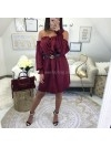 ***ROBE SATIN RUBIS ***