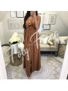 *** MAXI ROBE BOUTONS CAMEL ***