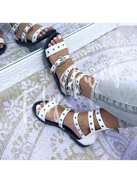 ***SANDALES SPARTIATES WHITE MUST HAVE FASHIONISTA ***