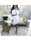 ***ROBE SATIN GOLD WHITE ***