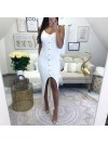 *** ROBE LYCRA ASYMETRIQUE WHITE ***