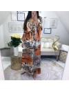 *** COLLECTION PRIVEE KAMILA MAXI ROBE LEOPARD ORANGE***