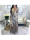 *** COLLECTION PRIVEE KAMILA MAXI ROBE LEOPARD NUDE***