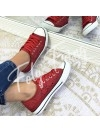 ***SNEAKER DENTELLE RED ***
