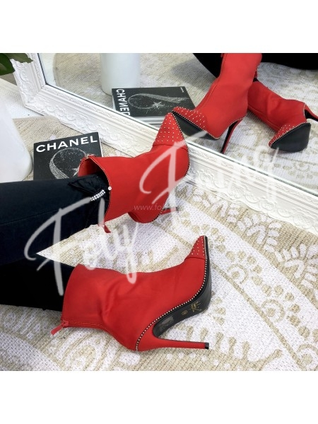 ***BOTTINES GIRLY CHIC RED  NEW SEASON COLLECTION***