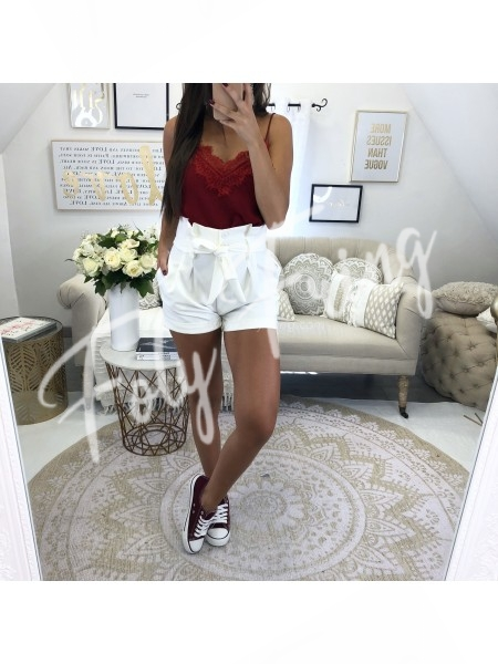 *** SHORT TAILLE HAUTE RED ***
