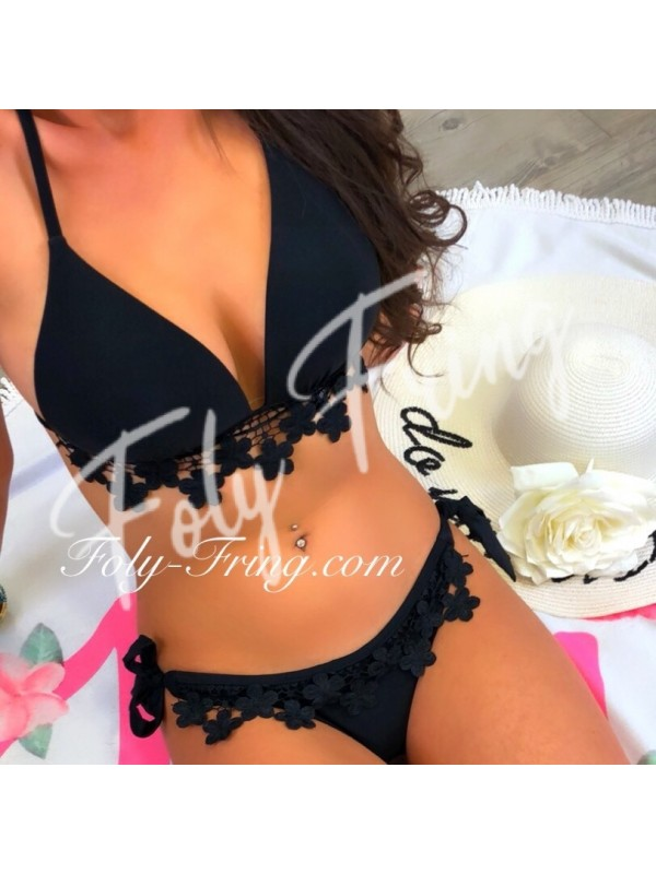 ****BIKINI SUMMER 2018 BLACK DENTELLE****