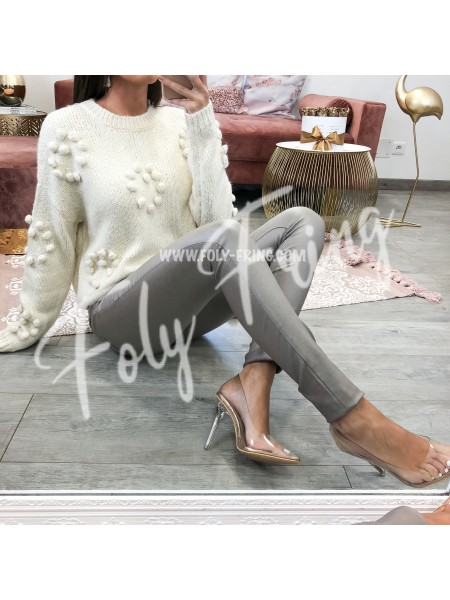 *** PULL MAXI MAILLE COEURS NUDE ***