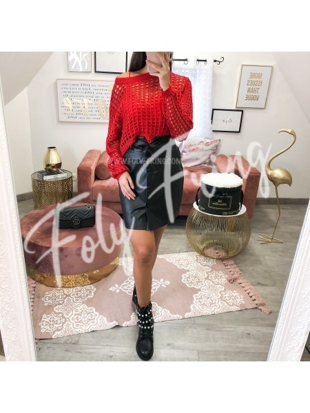 *** PULL AJOURE RED ****