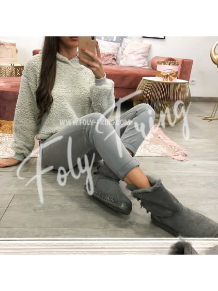 *** BOOTS FOURREES STRASS ***