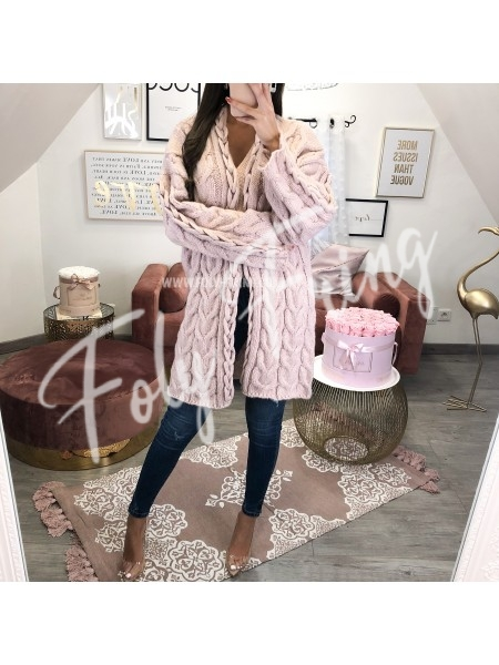 *** PREMIUM COLLECTION GILET MAXI TORSADE BOISE DE ROSE ****