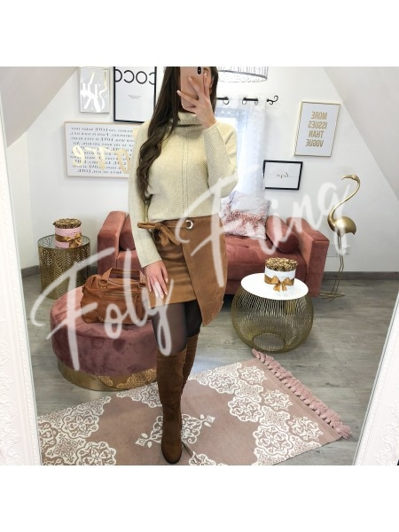 *** PULL MAILLE AJOUREE TAUPE ***