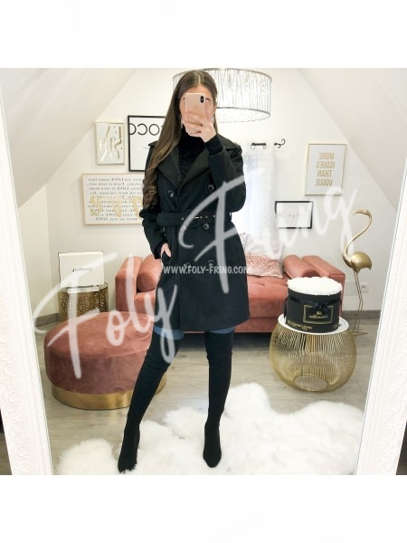 *** MANTEAU LONG A CEINTURE BLACK ***