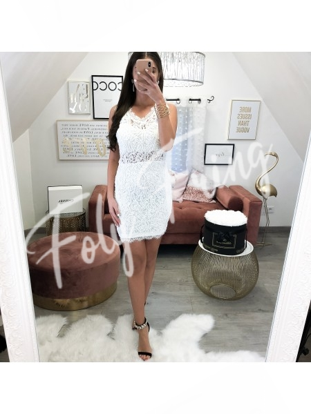 *** ROBE GUIPURE WHITE ***