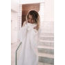 *** ROBE PULL COL ROULE OVERSIZE WHITE ***