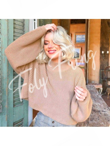 *** PULL COL ROND CAMEL ***