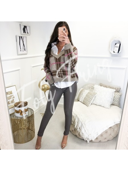 ***JEANS SKINNY HUILE TAUPE ****
