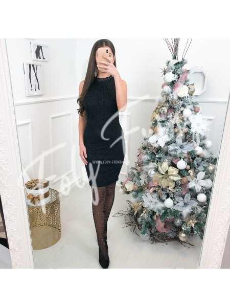 ***  ROBE GUIPURE BLACK CHRISTMAS EDITION ***