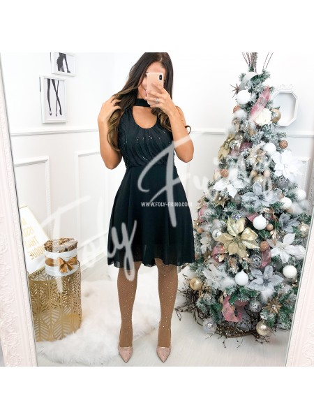 *** ROBE PATINEUSE STRASS BLACK ***