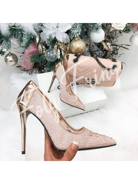*** ESCARPINS CHAMPAGNE CHRISTMAS EDITION***