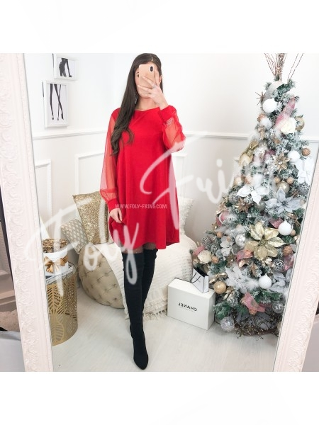 *** ROBE MANCHE FLUIDE RED ***