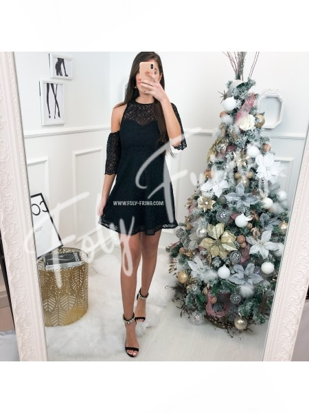 *** ROBE GUIPURE BLACK  ***