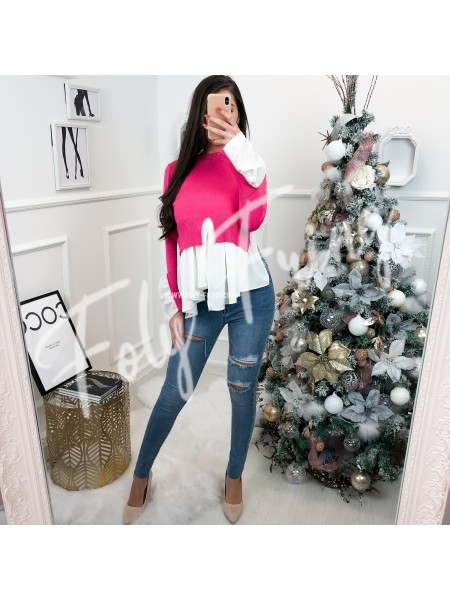 *** PULL EFFET CHEMISE PINK ***