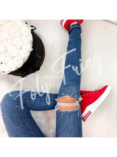*** JEANS SKINNY DESTROY LIGHT BLUE ***