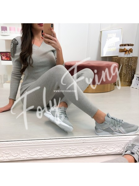 **** ENSEMBLE JOGGING CACHE COEUR GREY***