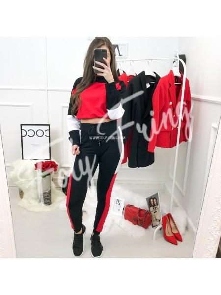 ***ENSEMBLE JOGGING FASHIONISTA BLACK & RED ***