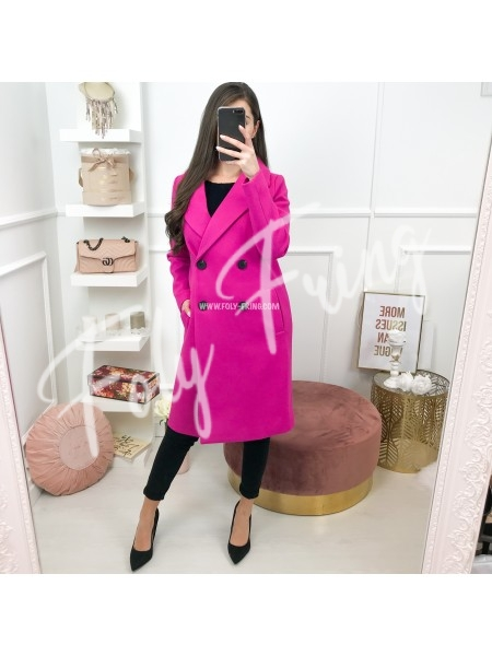 *** MANTEAU LONG FUSHIA ***
