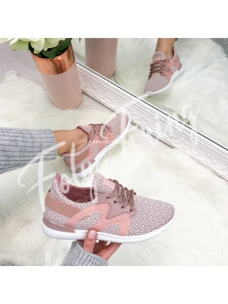 *** SNEAKERS INSPI CREATEUR ROSE TENDRE ***