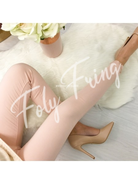 *** JEANS SKINNY TAILLE HAUTE ROSE ***