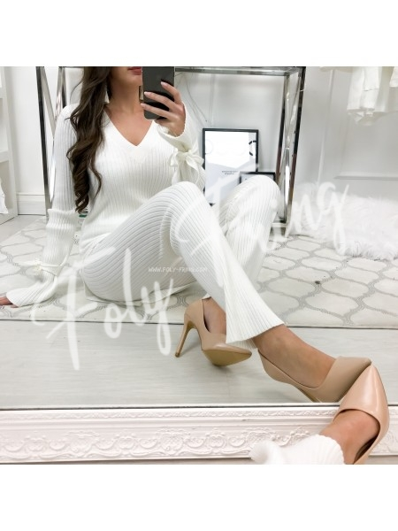 ***ENSEMBLE JOGGING MAILLE WHITE  ***