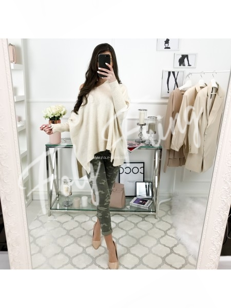 *** PULL OVERSIZE MAXI MAILLE NUDE ***