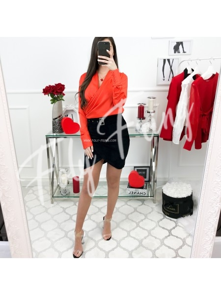 *** BLOUSE CACHE COEUR ORANGE ***