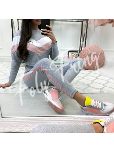 ***ENSEMBLE JOGGING GREY & PINK ***